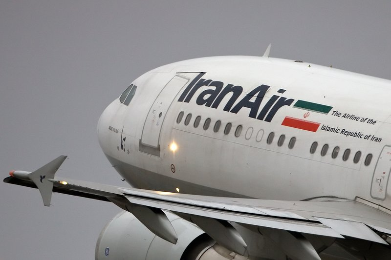 سقوط طائرة ايرانية