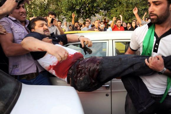 المتظاهرين في ايران