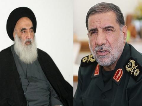 ايران و السيستاني